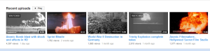 Screenshot from atomcentral's YouTube Channel showing some of their recent posts. . .
